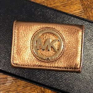Gold Michael Kors (MK) Card Case